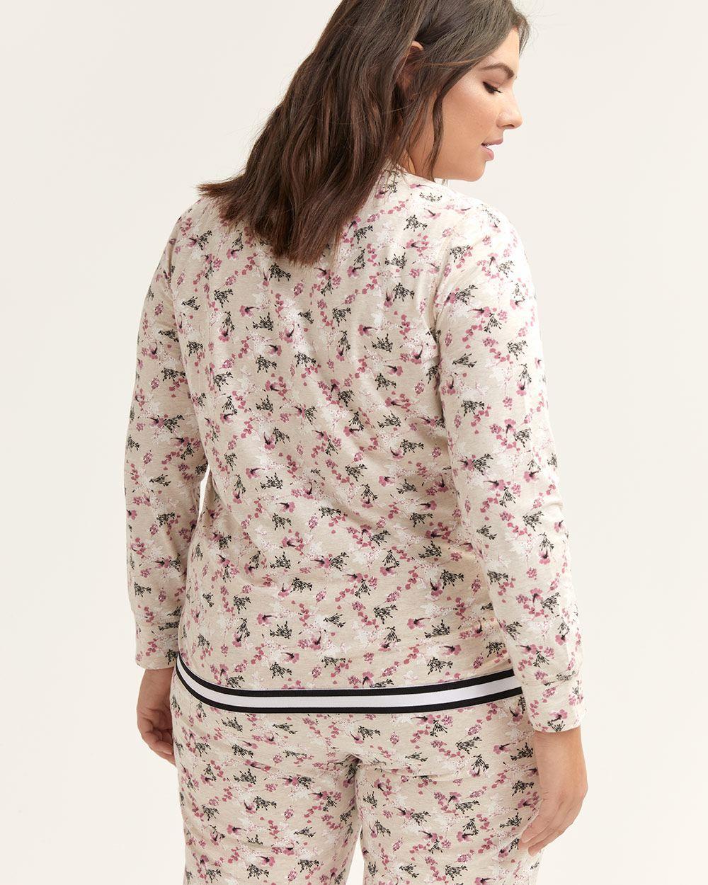 c26fda1ee Lyst - Addition Elle Printed Pyjama Jacket With Kangaroo Pocket - Ti Voglio