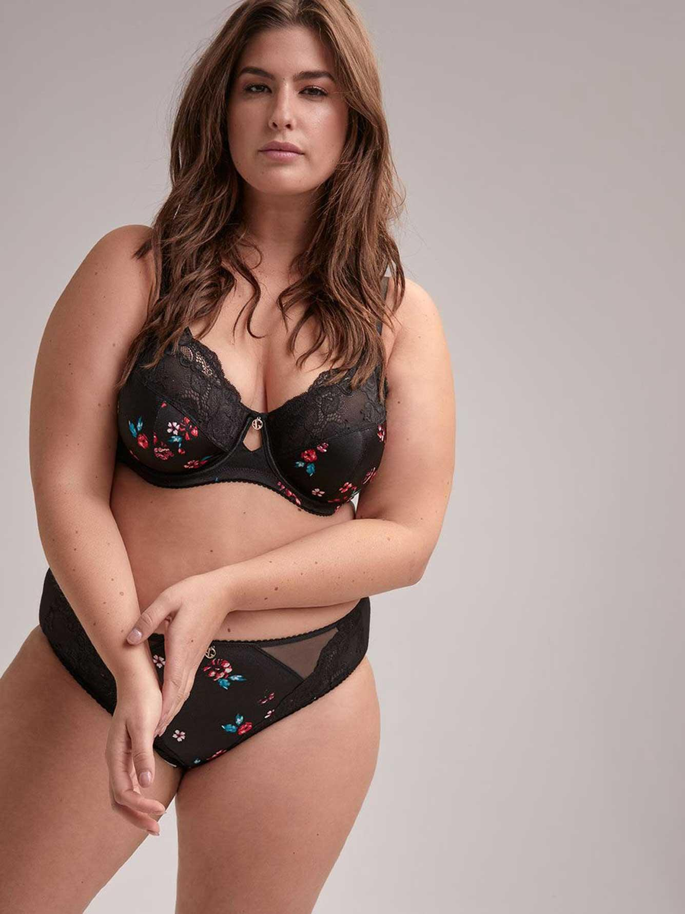 fb666eb89b Addition Elle Fatal Attraction Bra With Print And Lace, Sizes G And ...