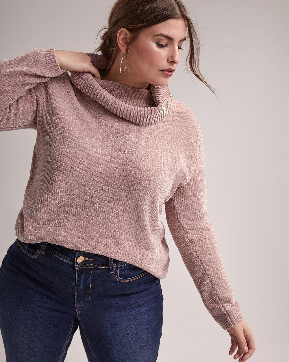 5eb90ce5033 Lyst - Addition Elle Cowl Neck Sweater With Round Hem - Michel Studio