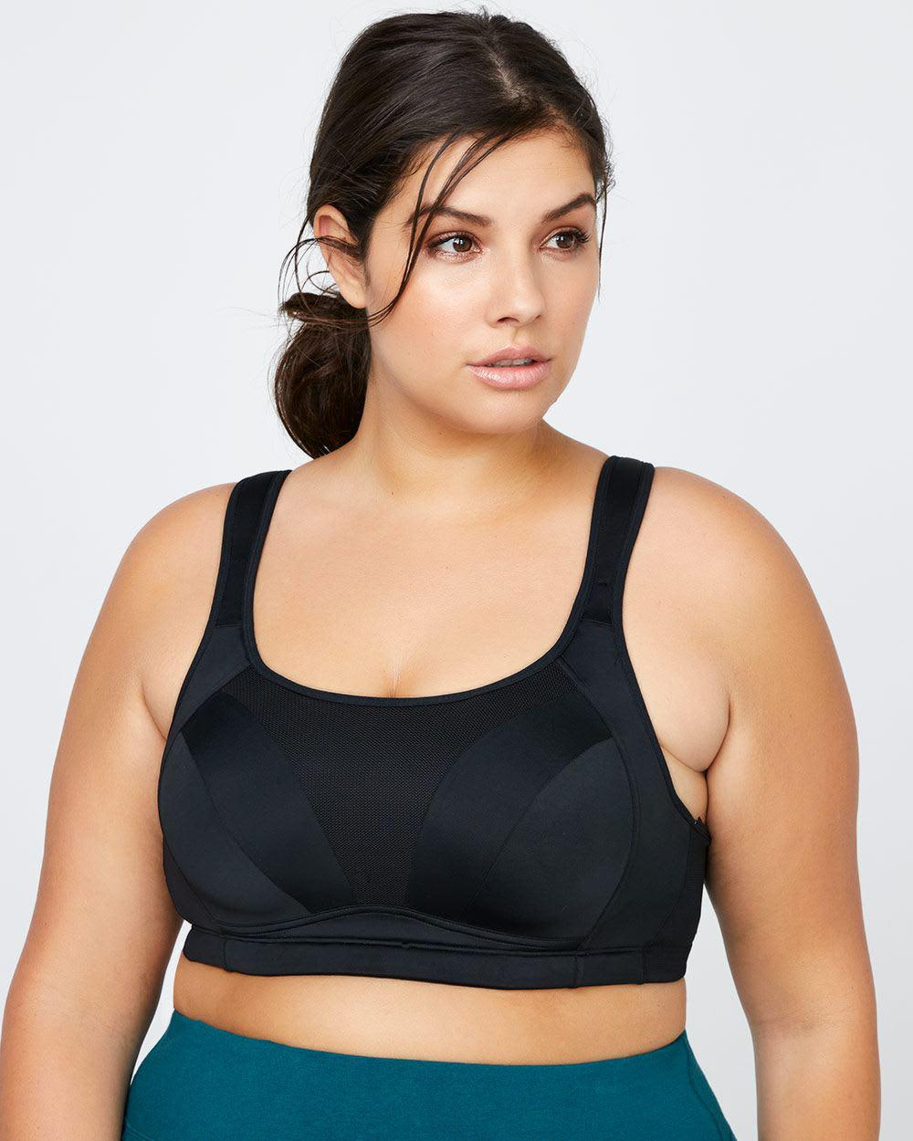dd35a5d514 Lyst - Addition Elle Plus-size Sports Bra - Activezone in Black