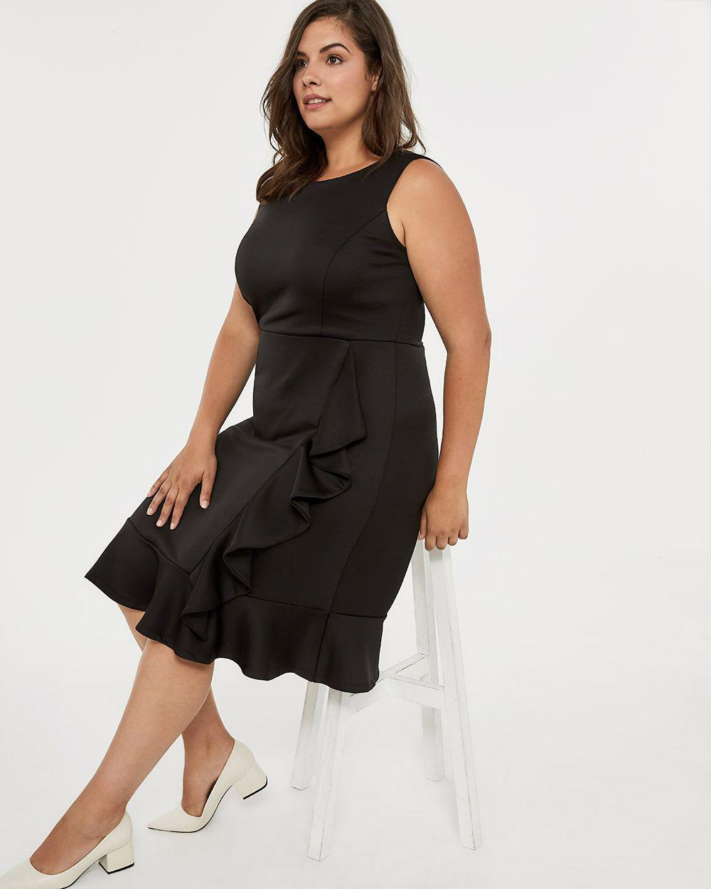 Lyst - Addition Elle Fit And Flare Dress With Ruffle Detail - In ... 4ee9a03b7