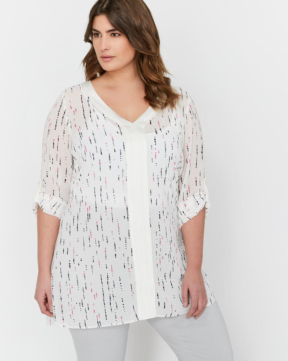 d07f0453bc0 Lyst - Addition Elle Michel Studio Loose Fit Printed Tunic