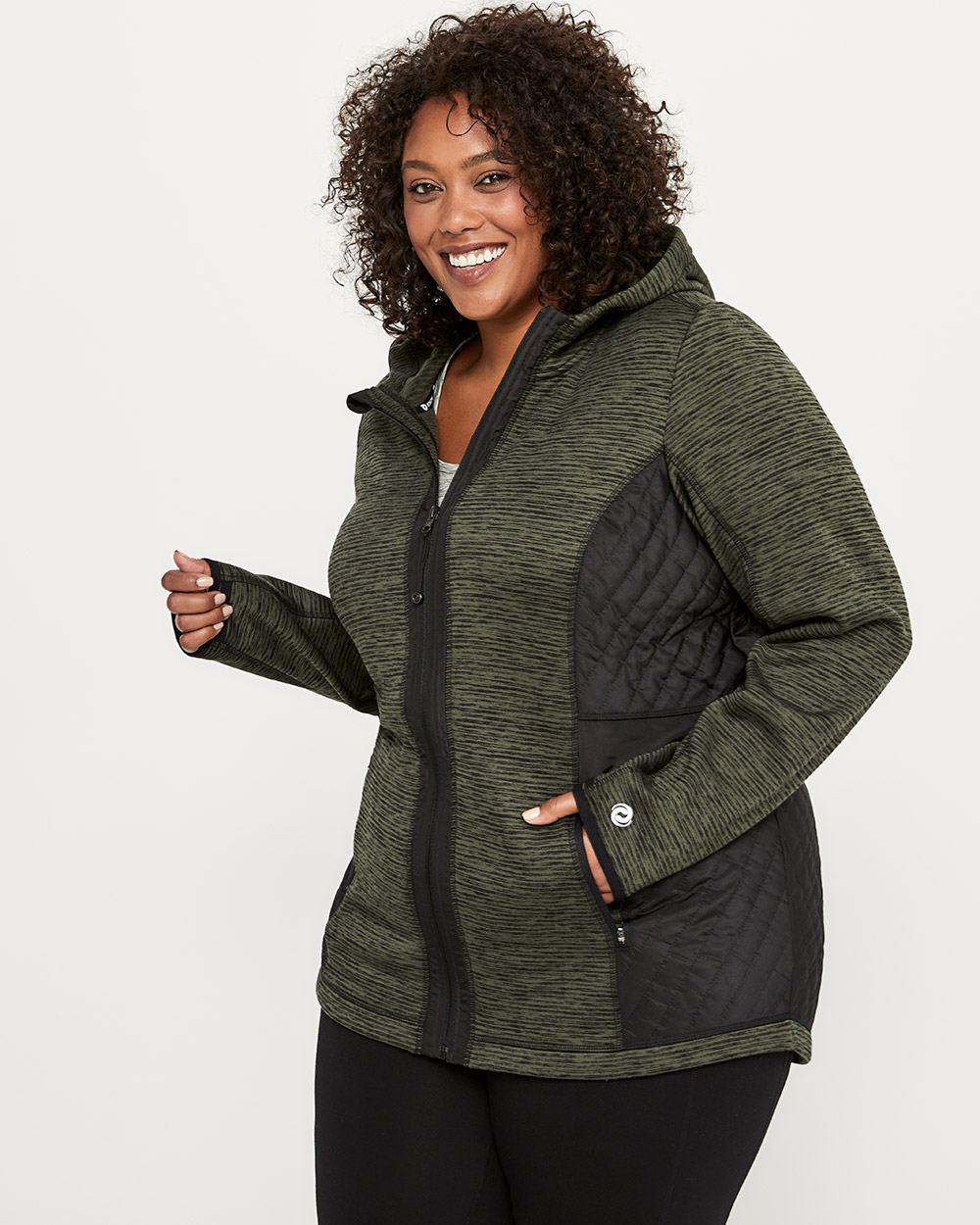 cd9218639e3 Lyst - Addition Elle Plus-size Hooded Jacket - Activezone in Black