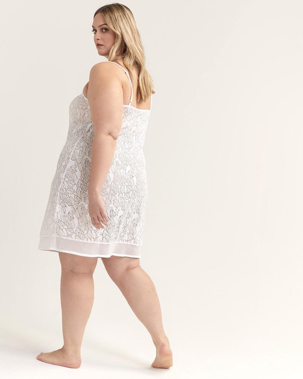 e65e9099b Lyst - Addition Elle Burn-out Pyjama Nighty With Mesh - Ti Voglio in White