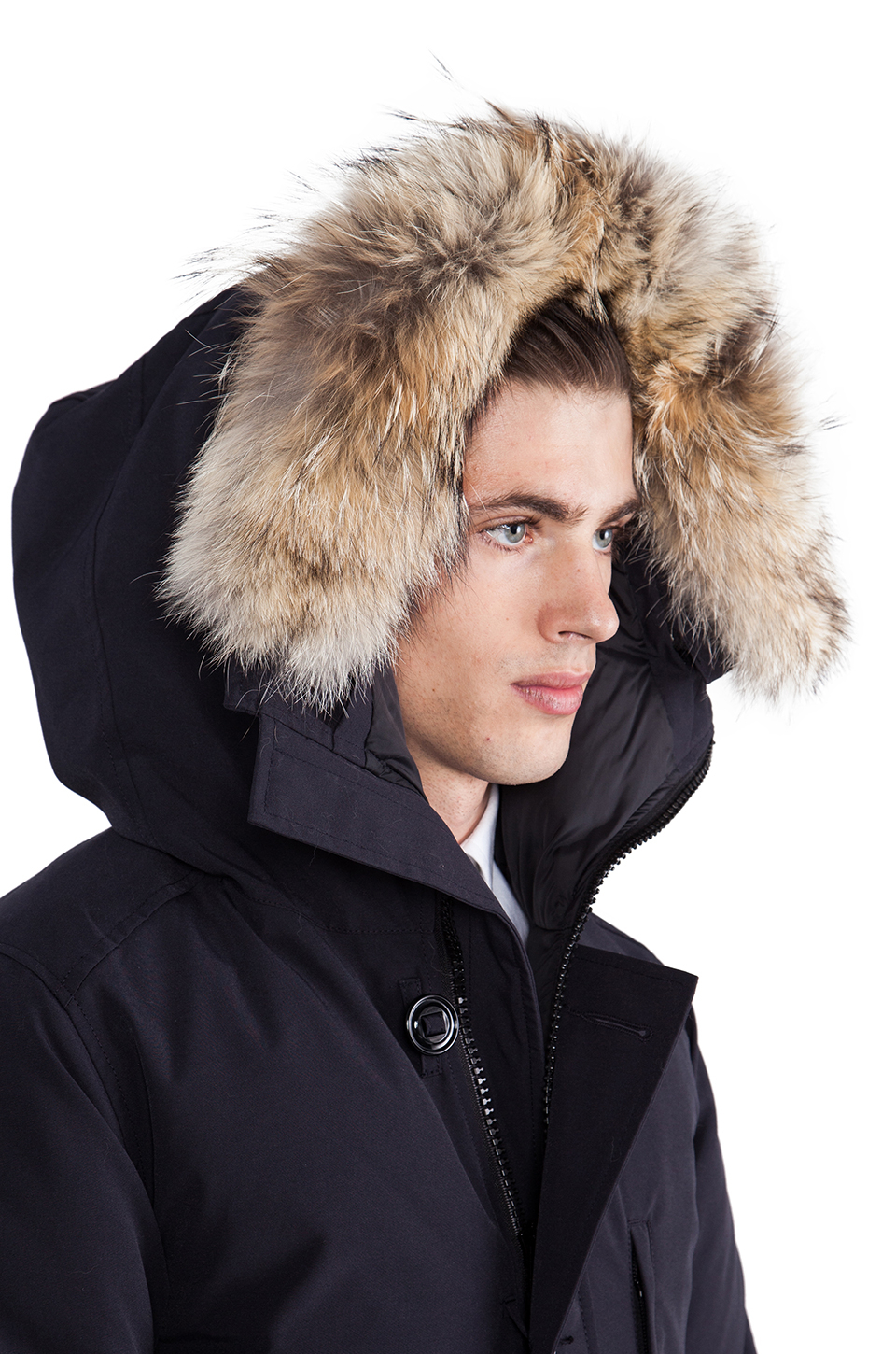 Canada Goose mens outlet cheap - Canada goose Chateau Parka With Coyote Fur Trim in Blue for Men ...