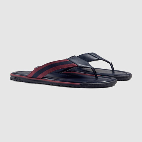 0e80c74acca2df Lyst - Gucci Web Strap Thong Sandal for Men