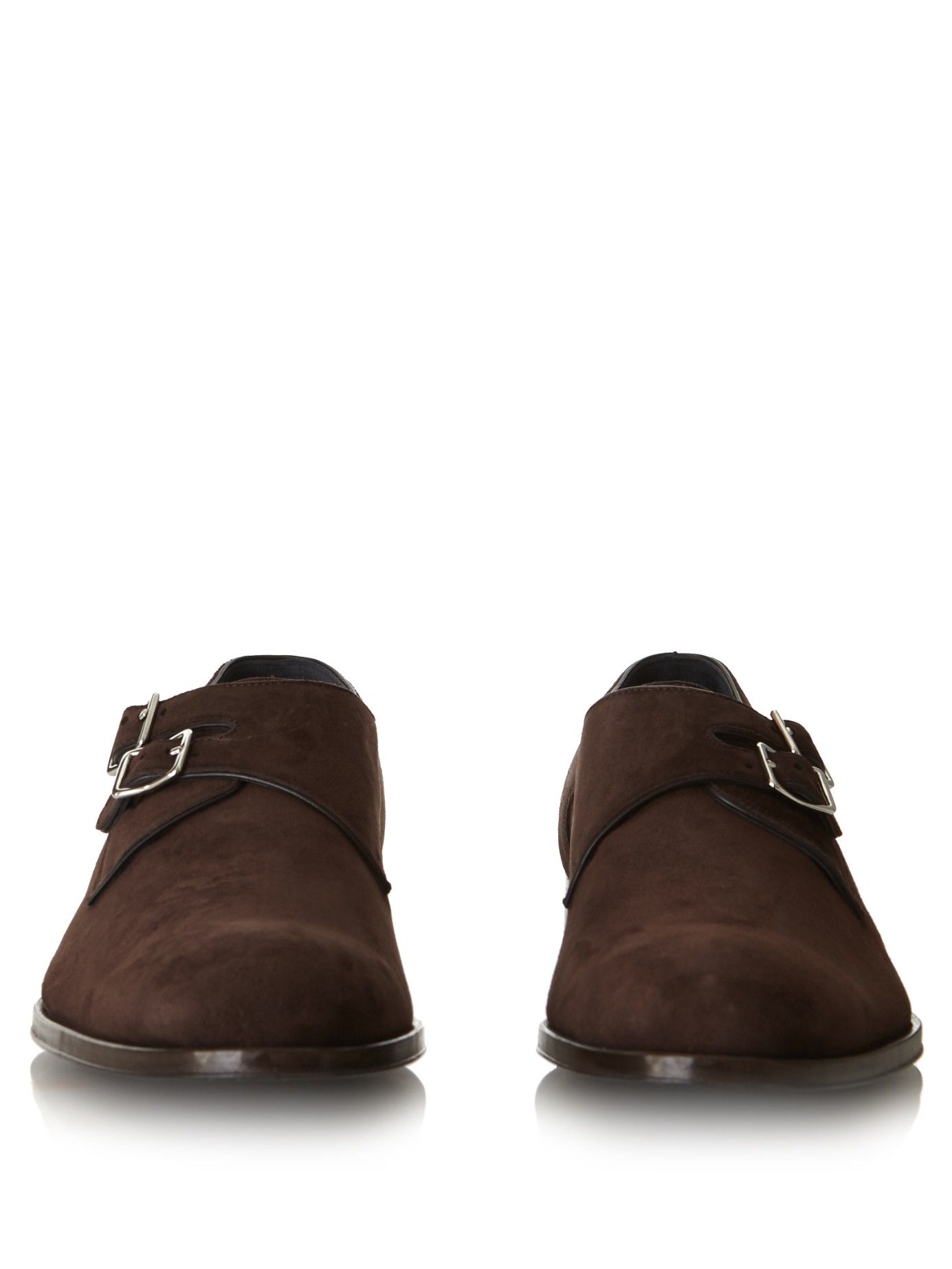 b42e05629435 Lyst - Mr. Hare Andreas Monk-strap Suede Shoes in Brown for Men
