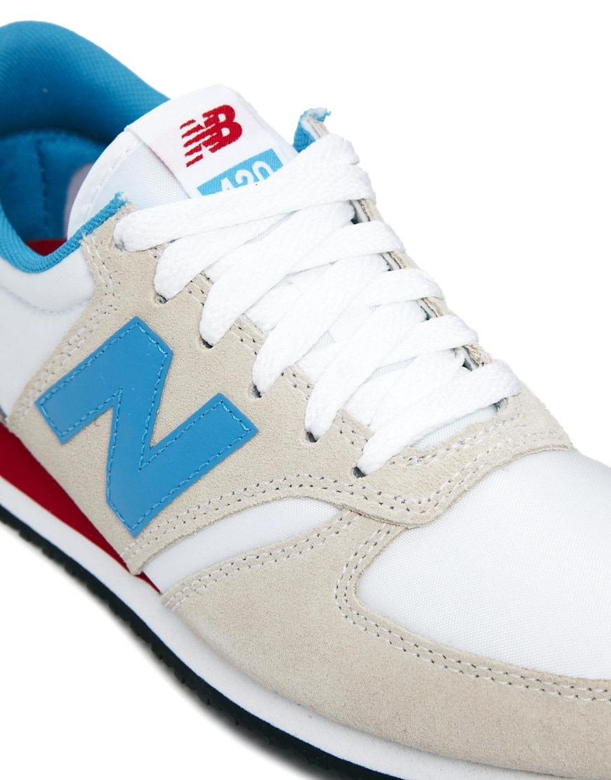 new balance 420 white with blue