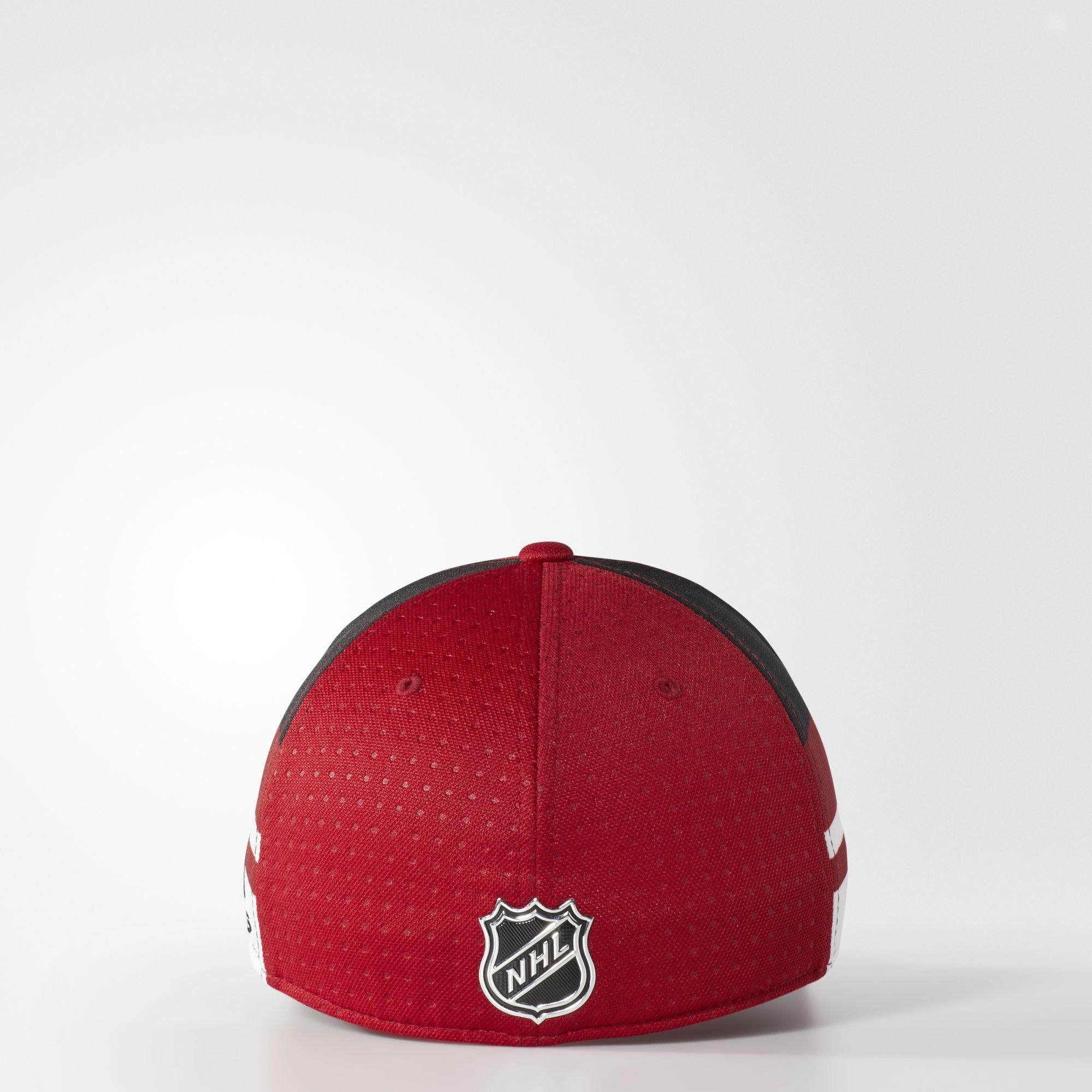 buy popular eaaca 5bd2e ... nhl piper adjustable cap 9a880 20422  reduced lyst adidas coyotes structured  flex draft hat in red for men 4704b d71df