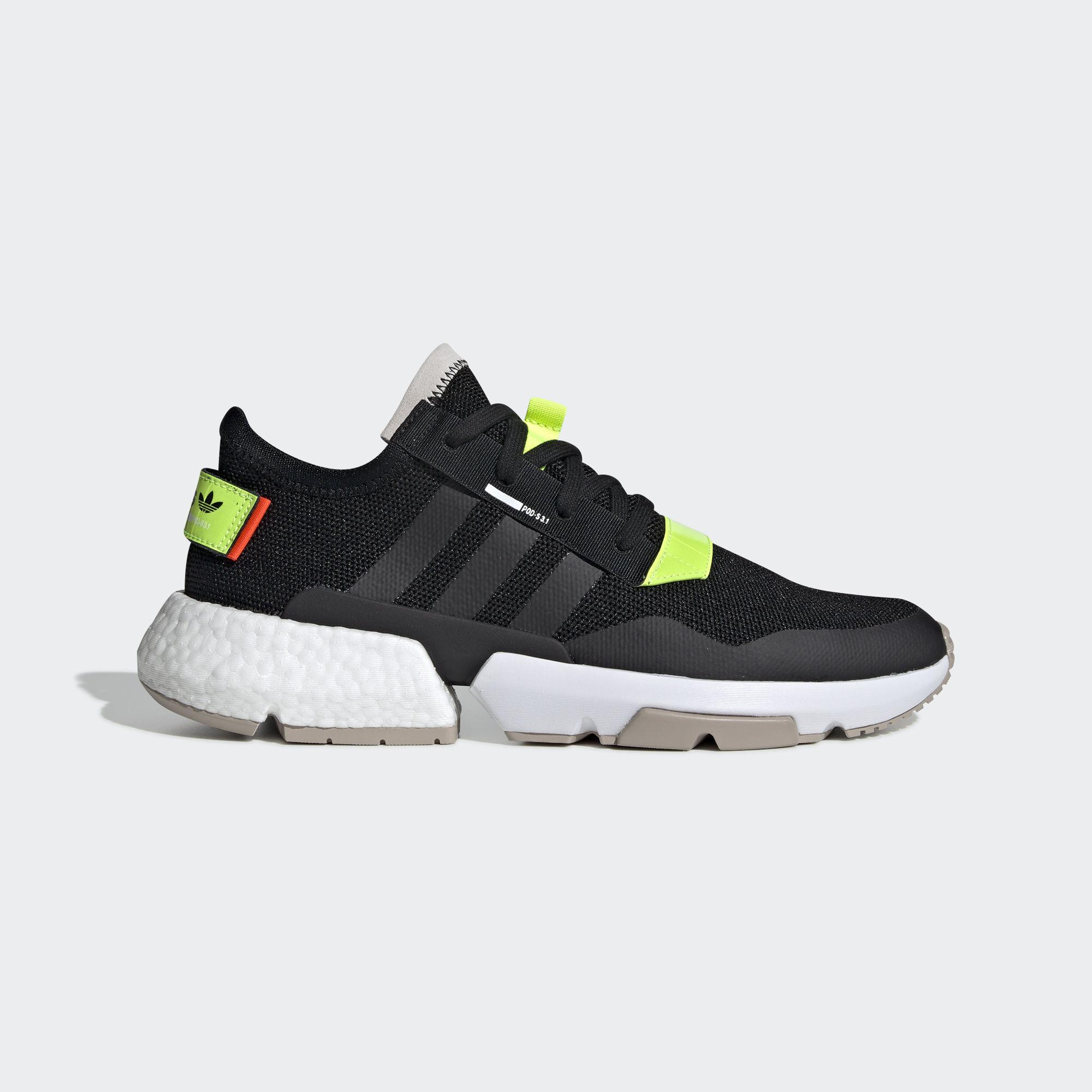 1eb1dd6306de0 adidas Originals. Men's Adidas Pod-s3.1 Core Black/ Solar Yellow/ Ftw White