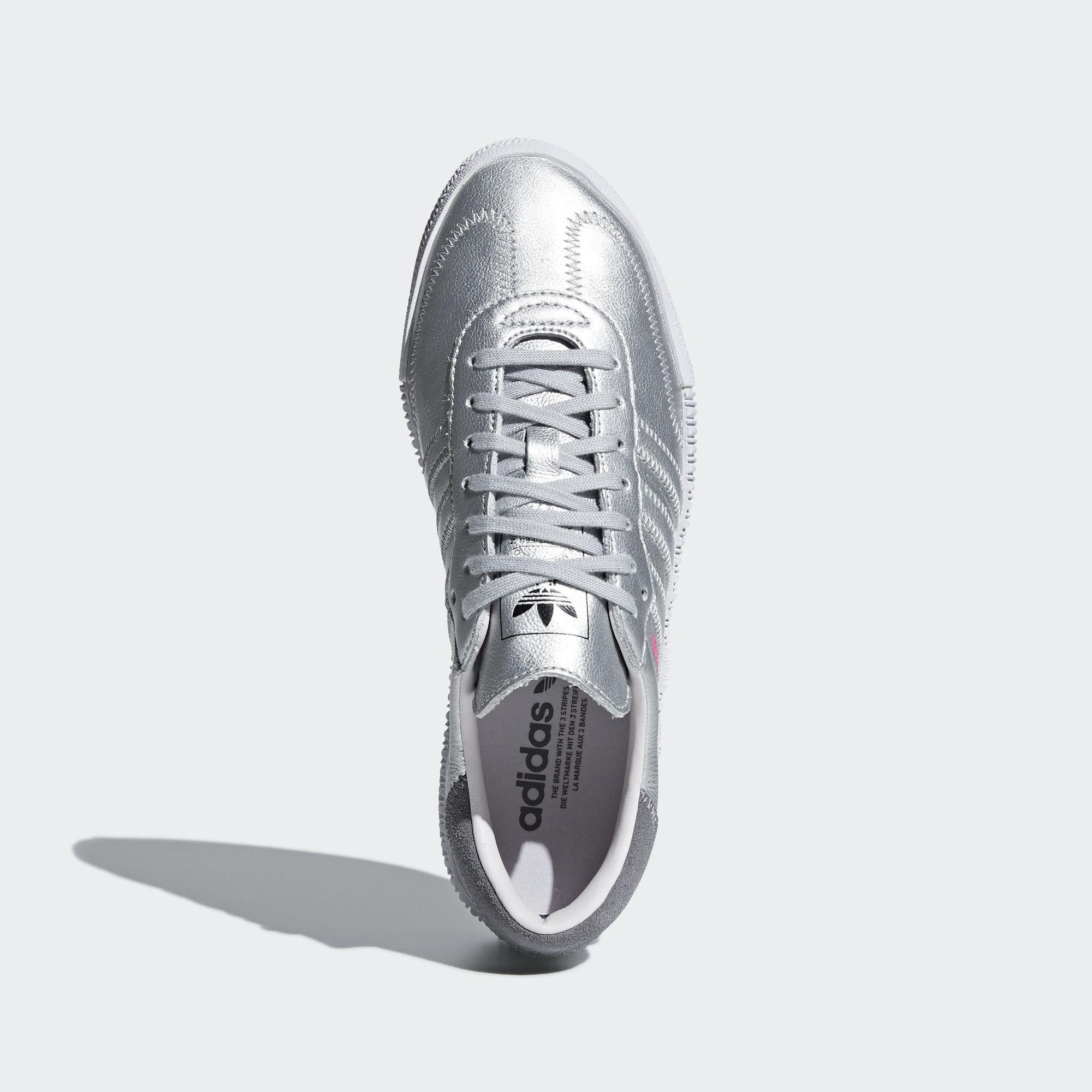 8e0a9687983c Adidas Originals - Adidas Sambarose W Silver Metallic  Silver Metallic  Orchid  Tint - Lyst. View fullscreen