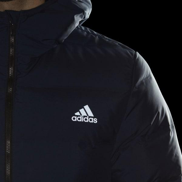 75a8b0cf7f97 Lyst - adidas Helionic Hooded Down Jacket in Blue for Men