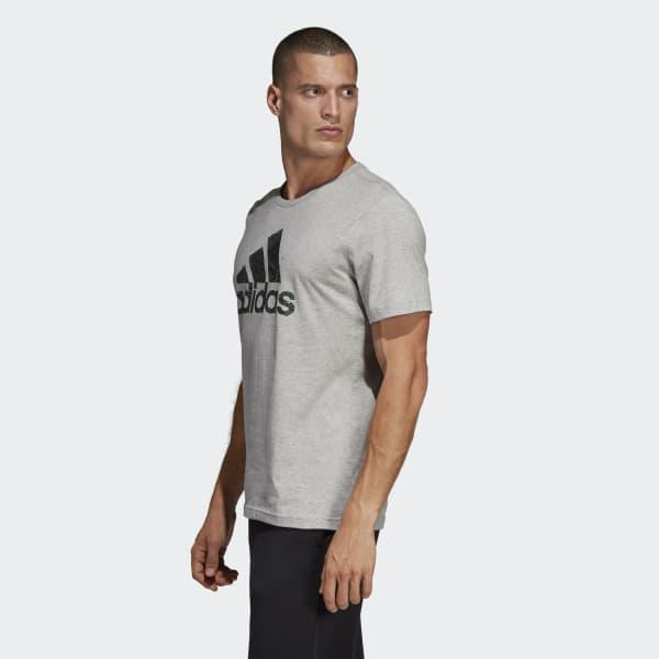 7771722b Adidas - Gray Must Haves Badge Of Sport Graphic Tee for Men - Lyst. View  fullscreen