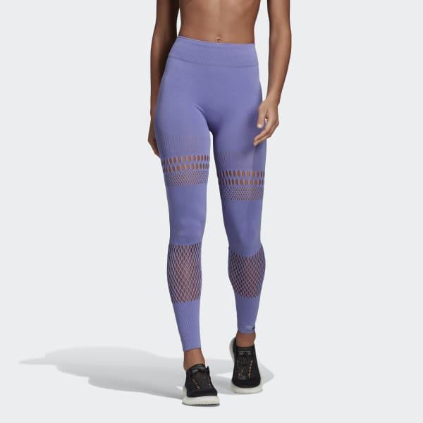 1fc13500008ee3 Lyst - adidas Warp Knit Tights in Purple