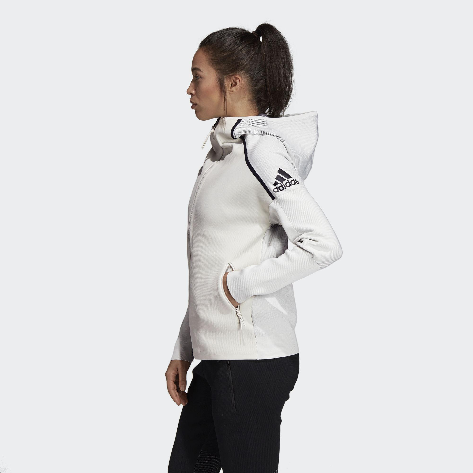b1f5d4d1518c Adidas - Gray Z.n.e. Primeknit Hoodie - Lyst. View fullscreen