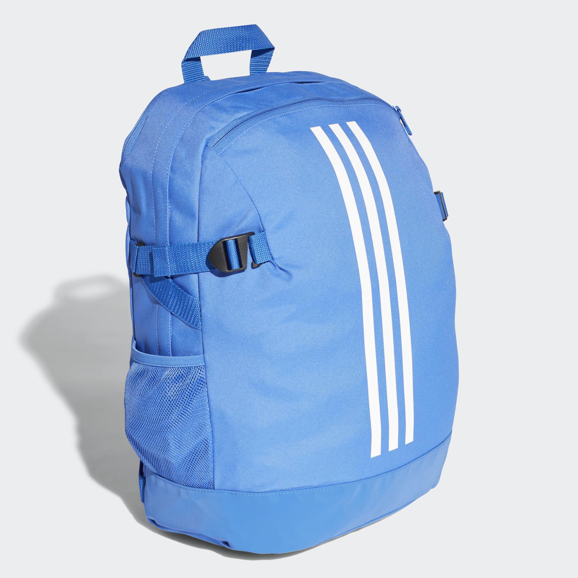 Adidas - Blue 3-stripes Power Backpack Medium for Men - Lyst. View  fullscreen c5c6b1110dca4