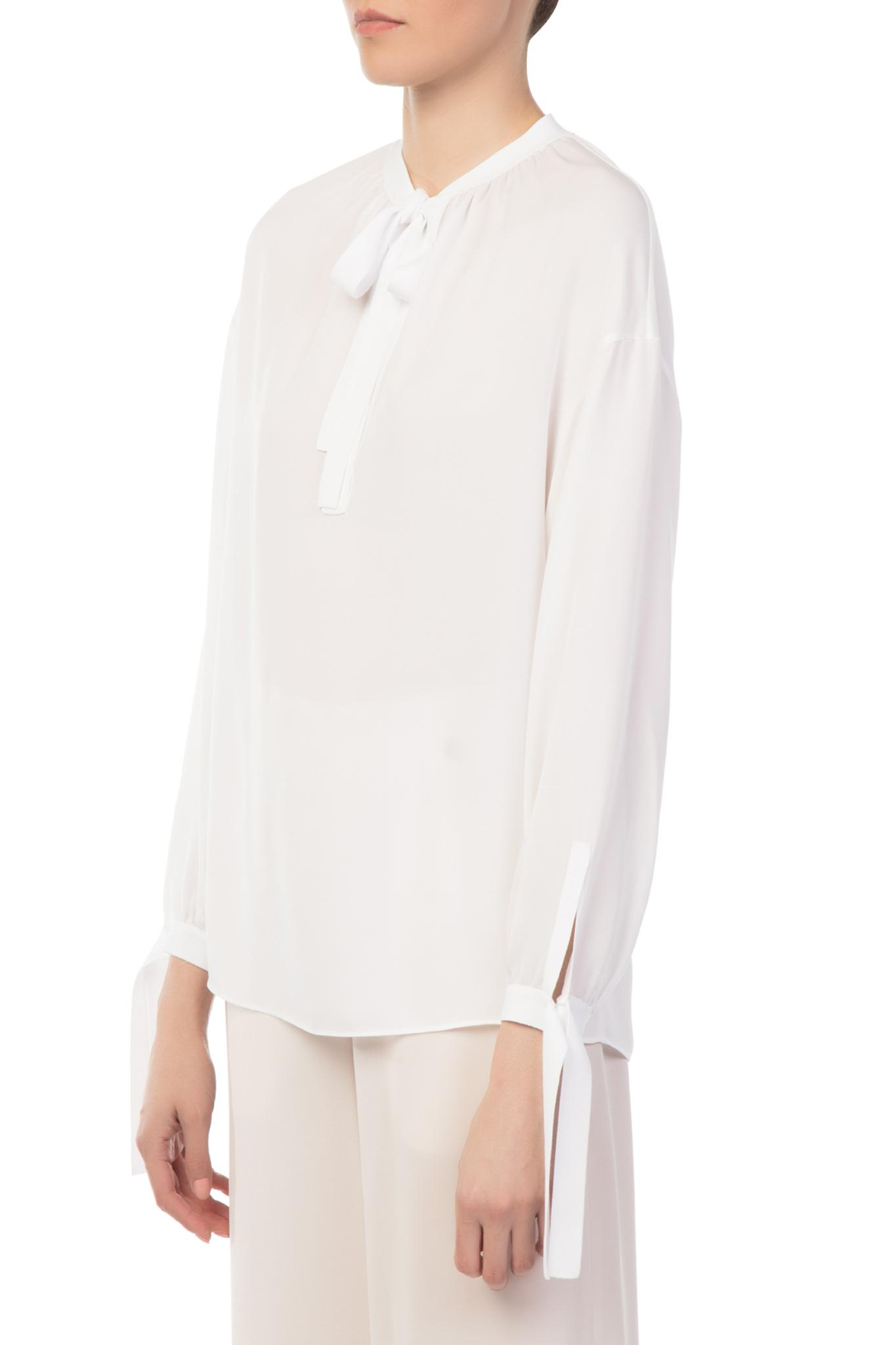 cffbcb3787a7d Lyst - Vince Tie Front Silk Poet Blouse in White