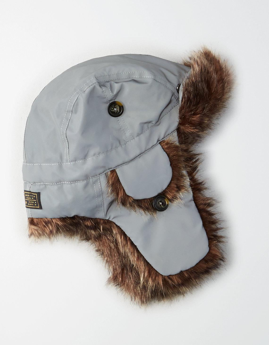 Lyst - American Eagle Ae Classic Trapper Hat in Gray for Men 2303f7a1a75d