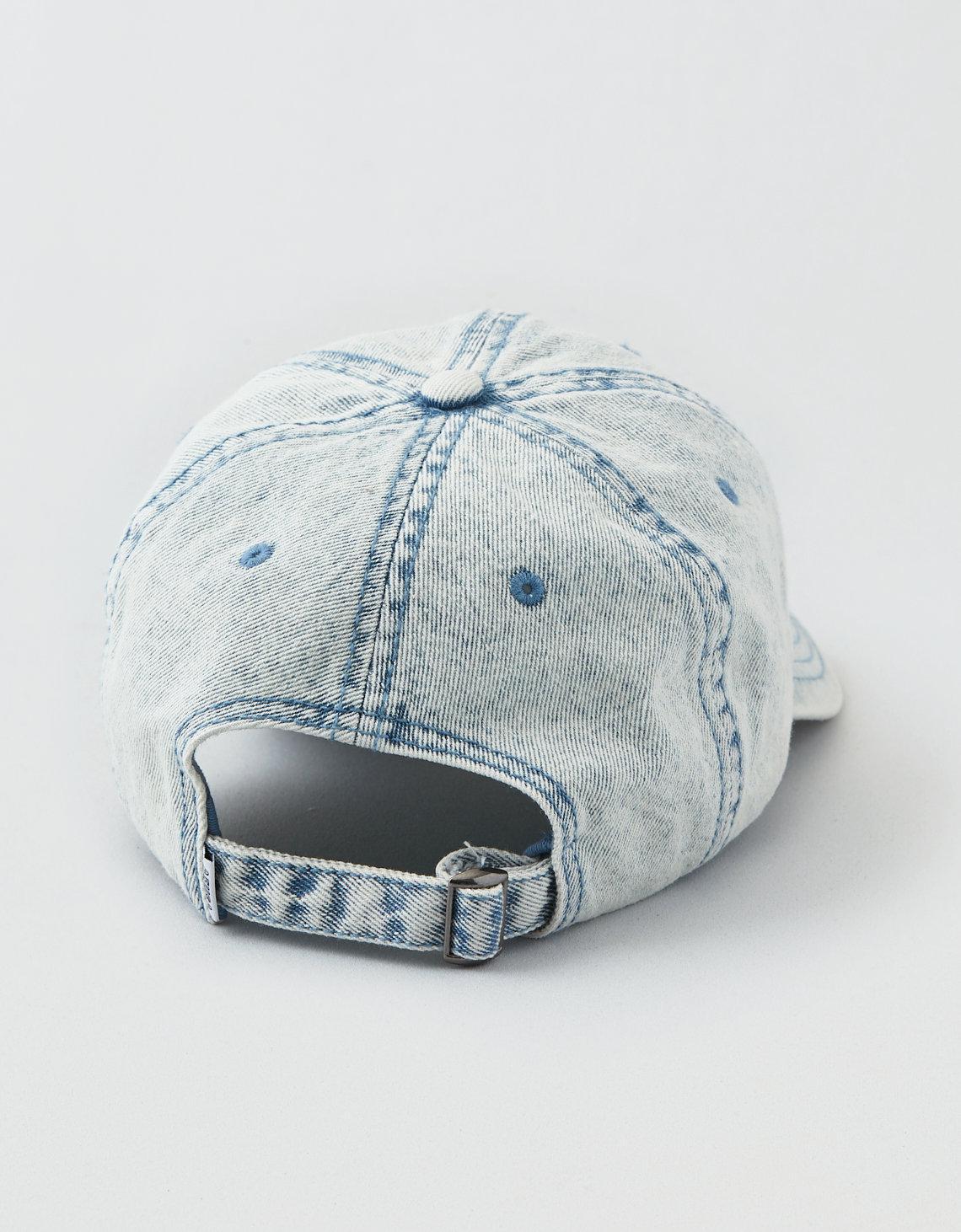 Lyst - American Eagle Ae Washed Denim Logo Hat in Blue for Men d5a3b2236178