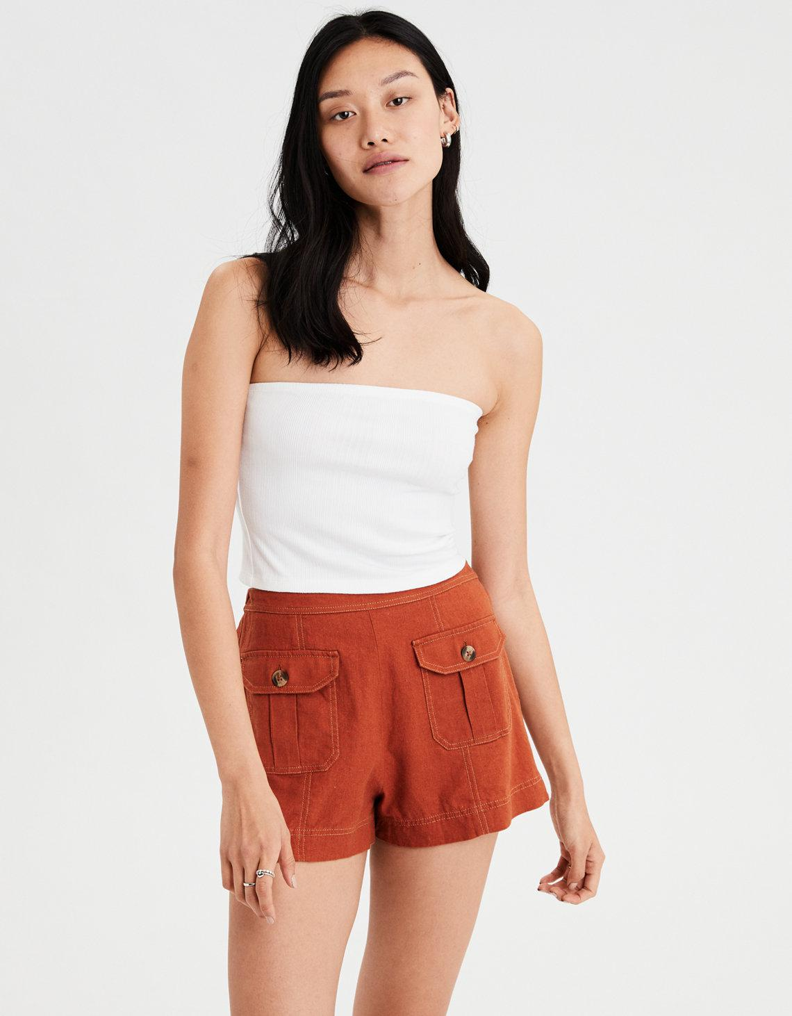 db418282e5 Lyst - American Eagle Ae Ribbed Tube Top in White