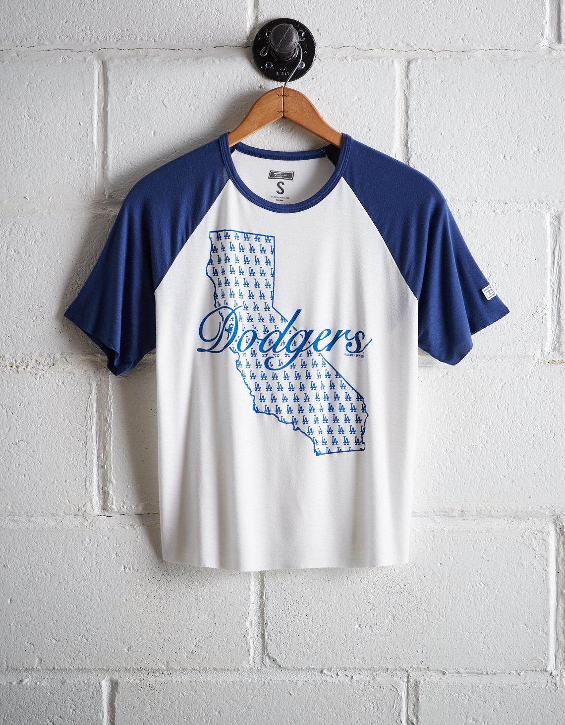 b9522e6a Lyst - Tailgate Women's Los Angeles Dodgers Cut-off Baseball Tee in ...