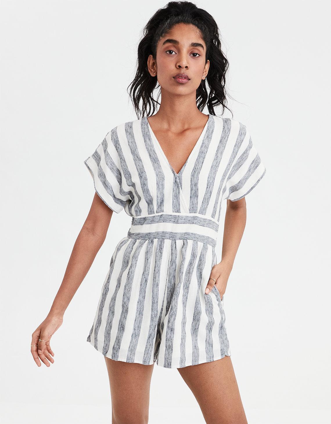 9ff22942d68 American Eagle. Women s Ae Striped Kimono Romper