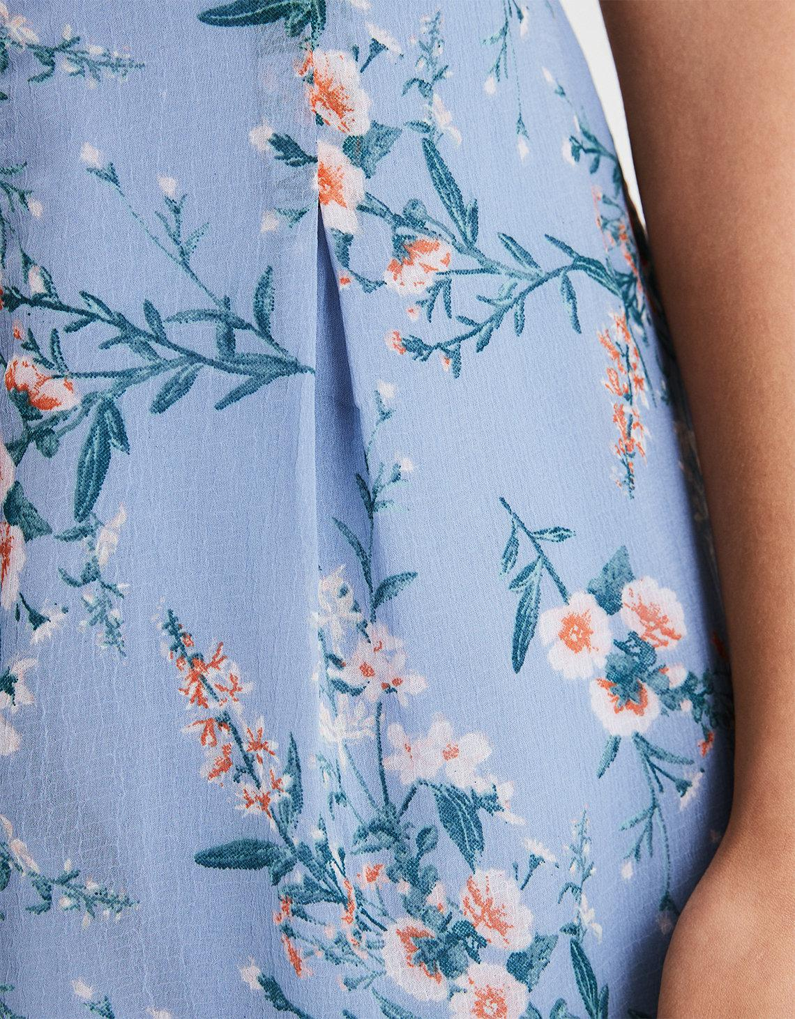 29146f153874 Lyst - American Eagle Ae Floral Pleated Romper in Blue