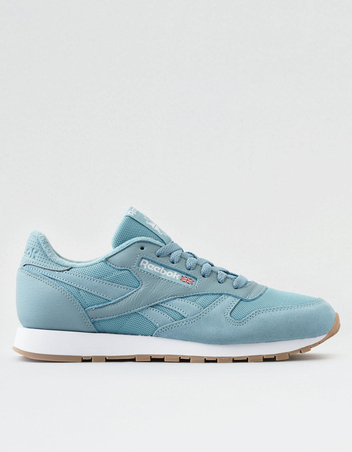 Lyst - American Eagle Reebok Cl Leather Estl Sneaker in Blue for Men 841ff7797