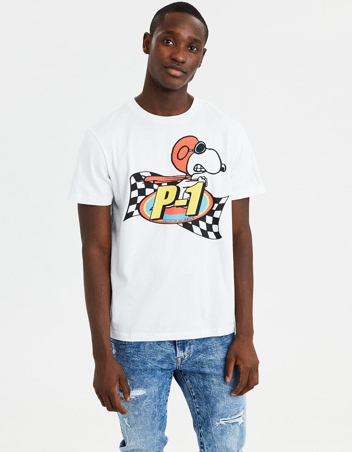 537dcca5 American Eagle Ae Snoopy Short Sleeve Graphic Tee in White for Men ...