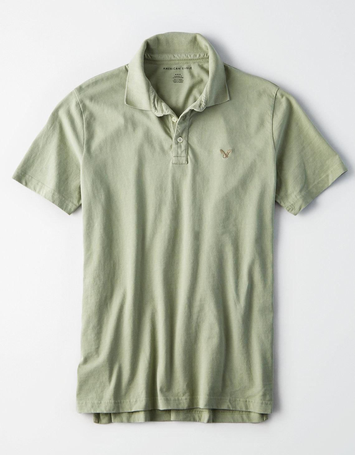 3558840b ... Green Ae Logo Jersey Polo for Men - Lyst. View fullscreen