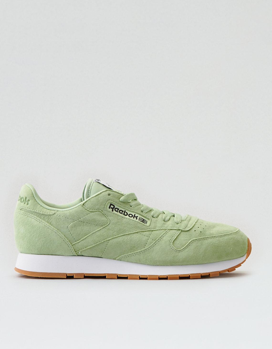 3a7f0f2d544 Lyst - American Eagle Reebok Classic Leather Pastel Sneaker in Green ...