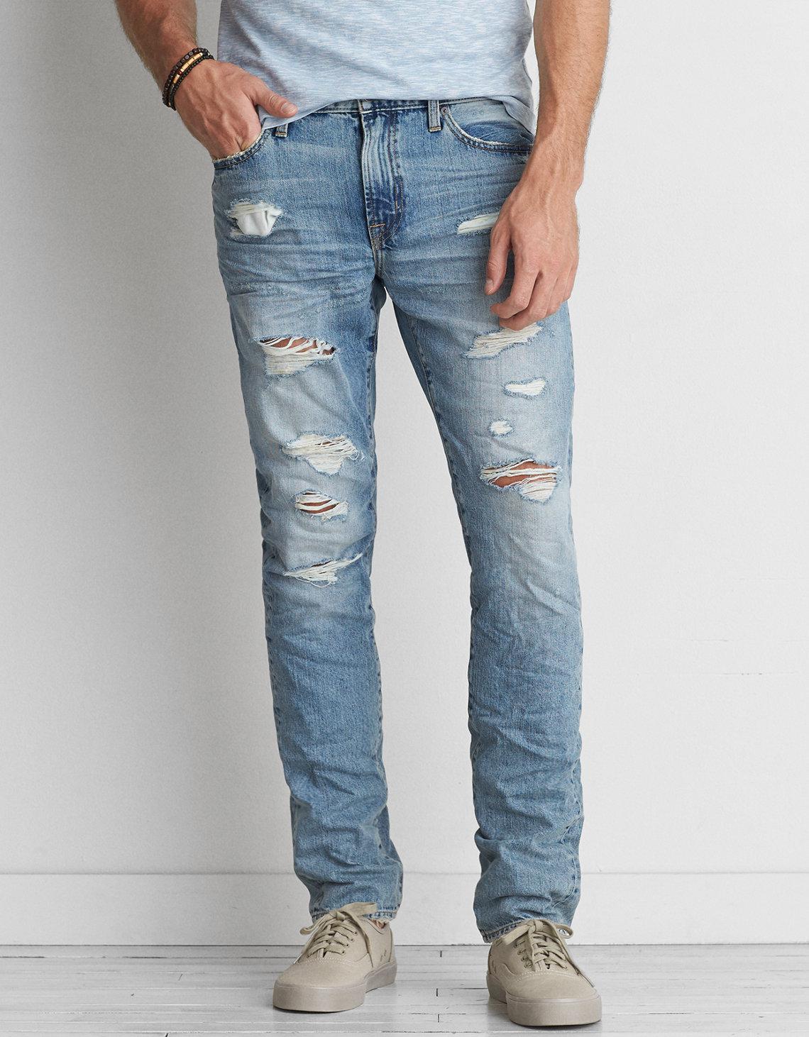 Lyst American Eagle Slim Jean In Blue For Men