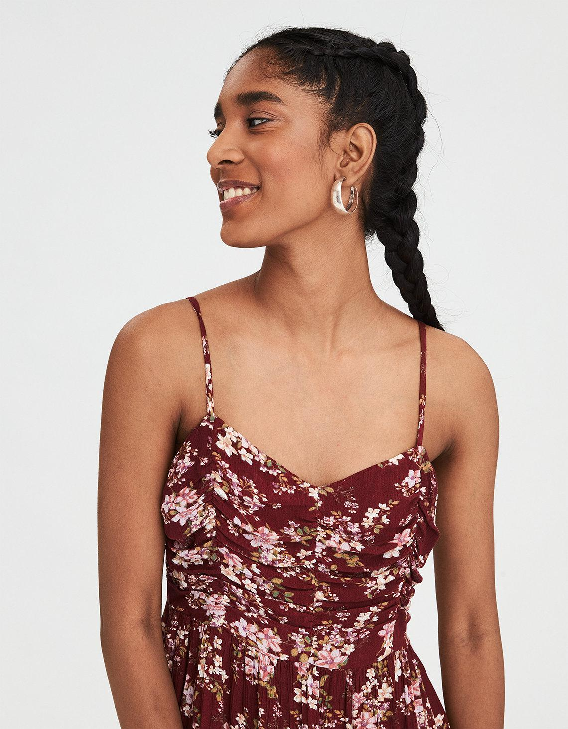 137f0b9861dc Lyst - American Eagle Ae Strappy Cinch Front Dress in Red