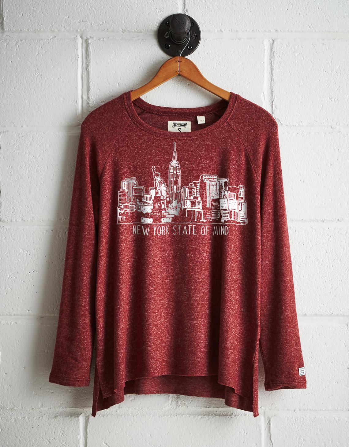 8421785664 Lyst - Tailgate Women s Ny State Of Mind Plush Tee in Red