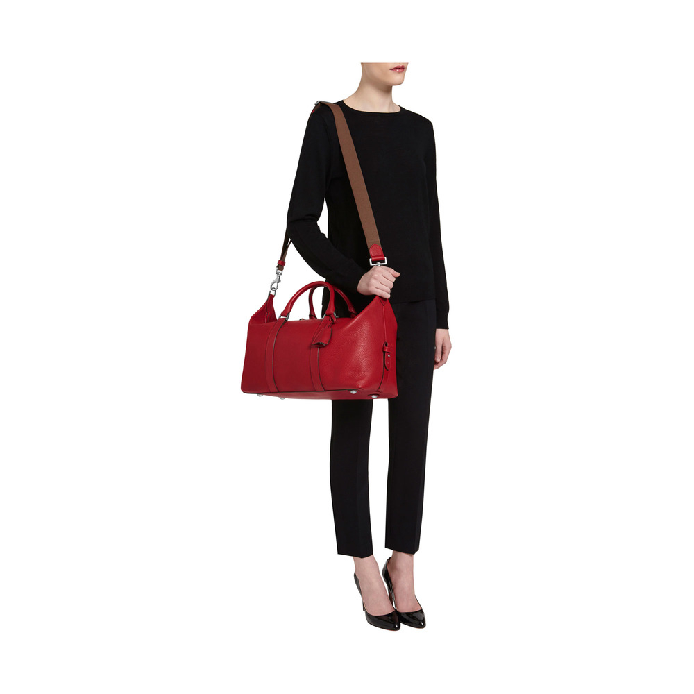 lyst mulberry small clipper in red
