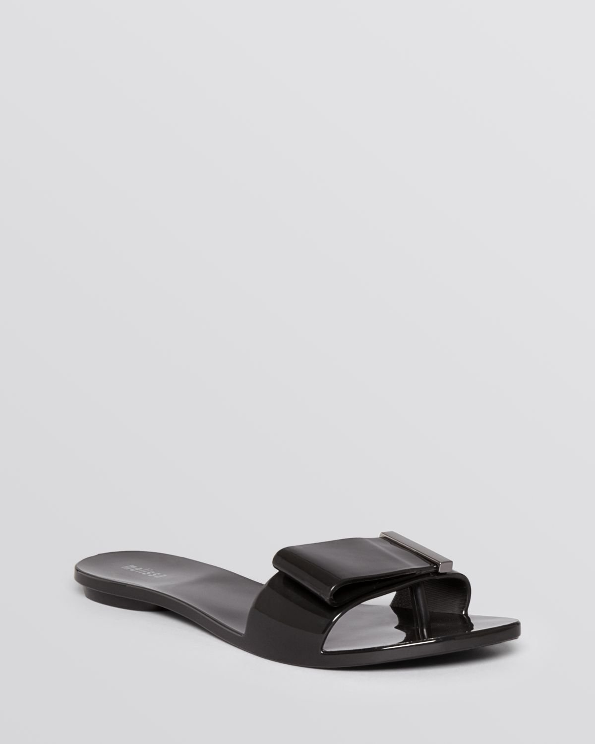 d93034ec3c831 Lyst - Melissa Flat Thong Jelly Sandals Lovely in Black
