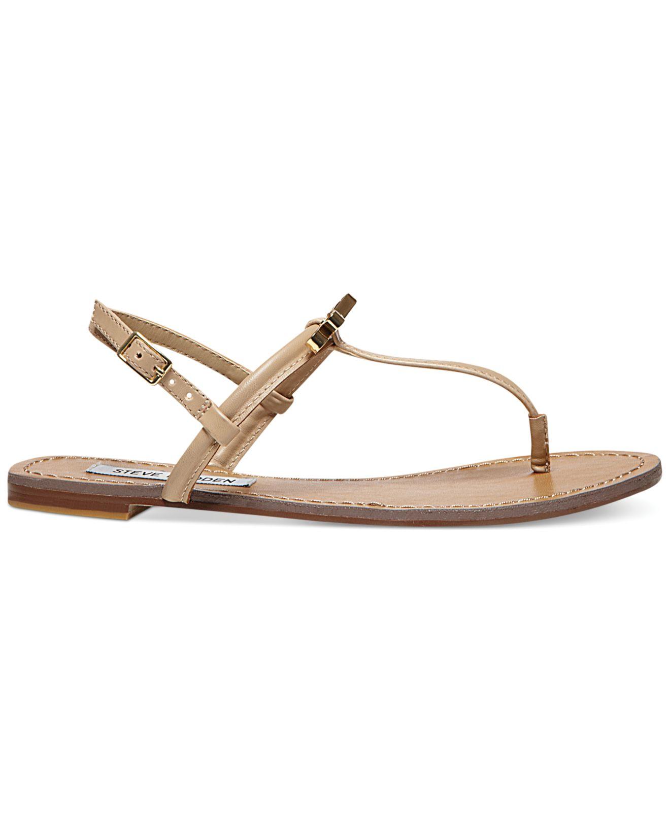 8de00ab19fdc1 Lyst - Steve Madden Women S Daisey Flat Thong Sandals in Natural