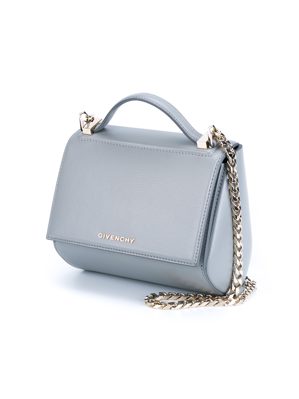 Lyst - Givenchy Leather Pandora Box Handbag in Gray 467d2fe17586a