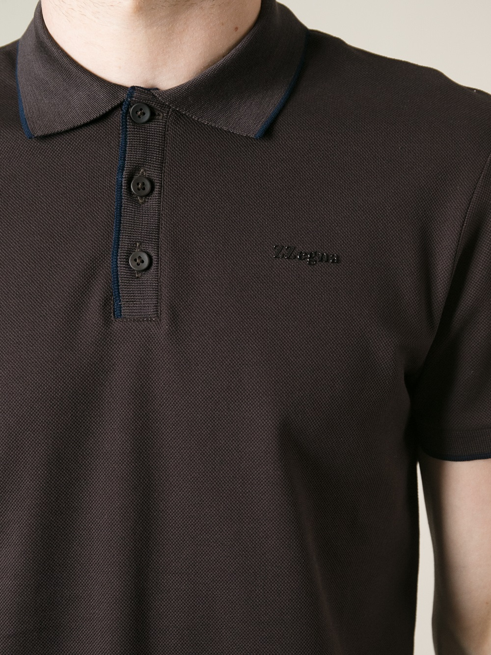 c579588c Z Zegna Short Sleeve Polo Shirt in Brown for Men - Lyst