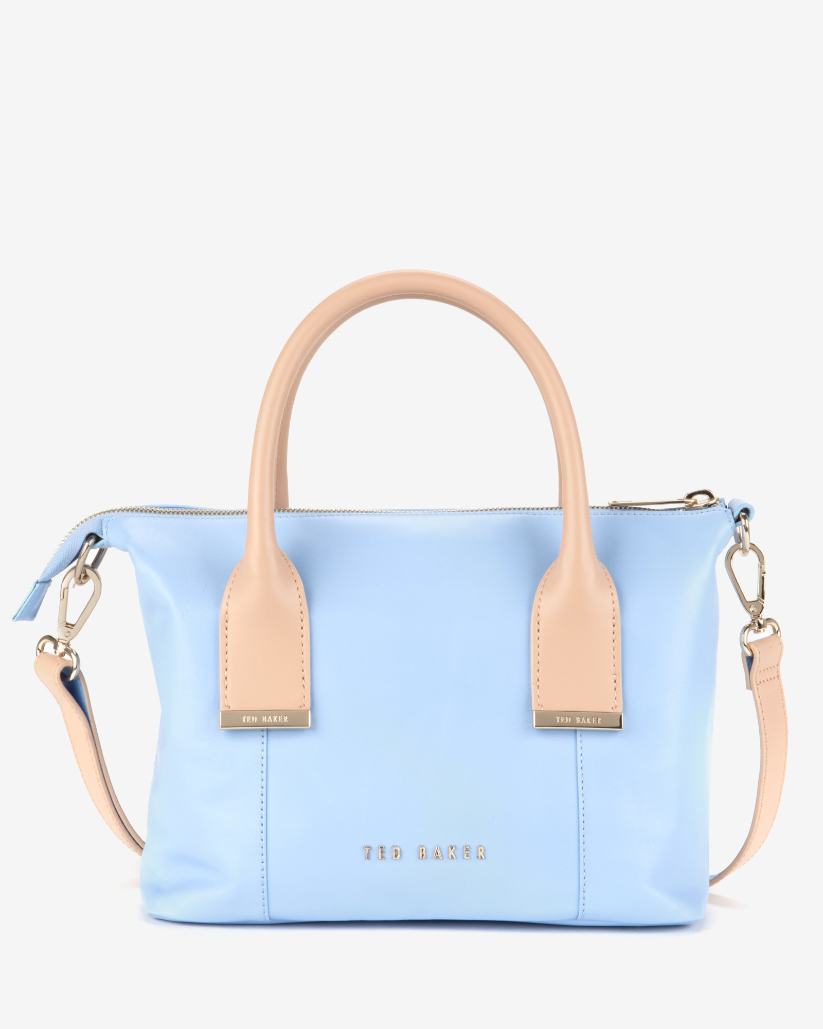 3e57efca5 Ted Baker Amelia Leather Mini Tote Bag in Blue - Lyst