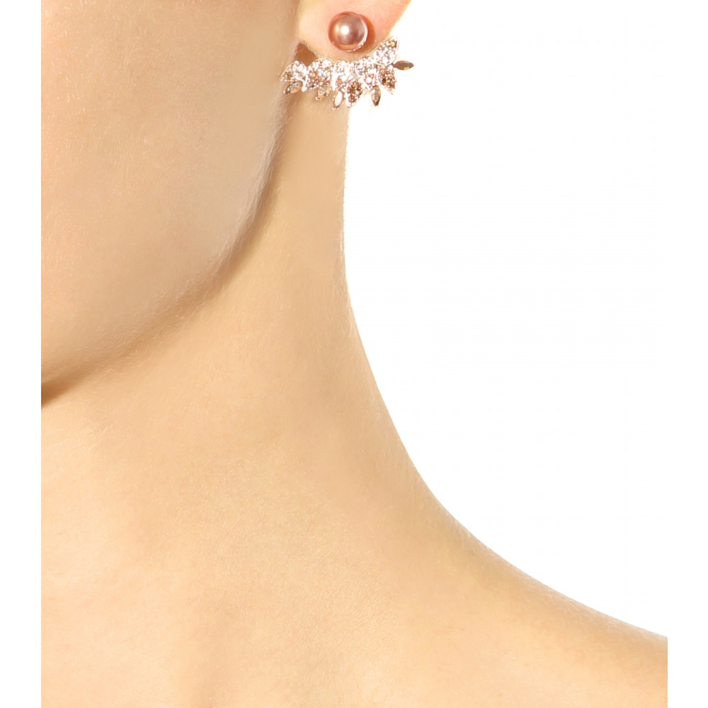 Joanna Laura Constantine Knot and pearl earrings Set of 3 q2Z1JuNX