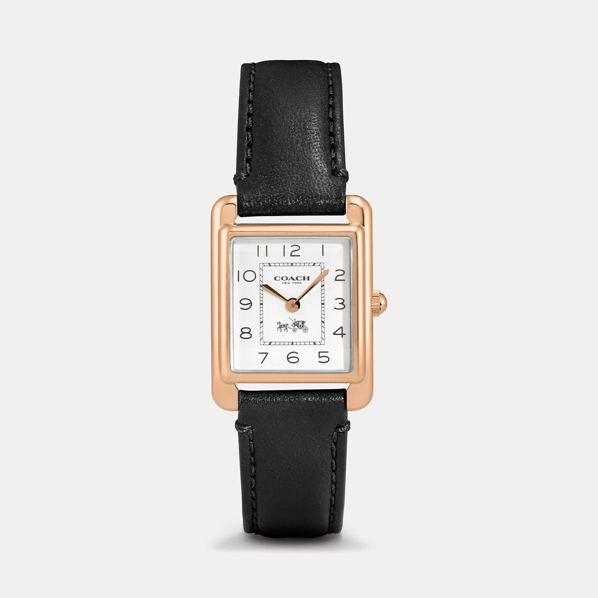 7236a9dba6 COACH Page Rose Gold Plated Strap Watch in Black - Lyst
