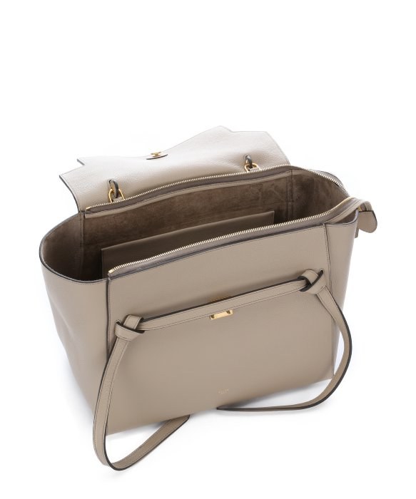 C¨¦line Beige Leather Belt Small Trapeze Tote in Beige | Lyst