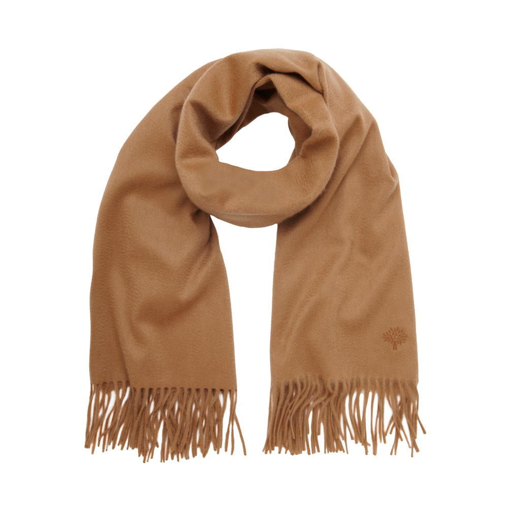 9f60ee1af80 Mulberry Block Colour Scarf in Natural - Lyst
