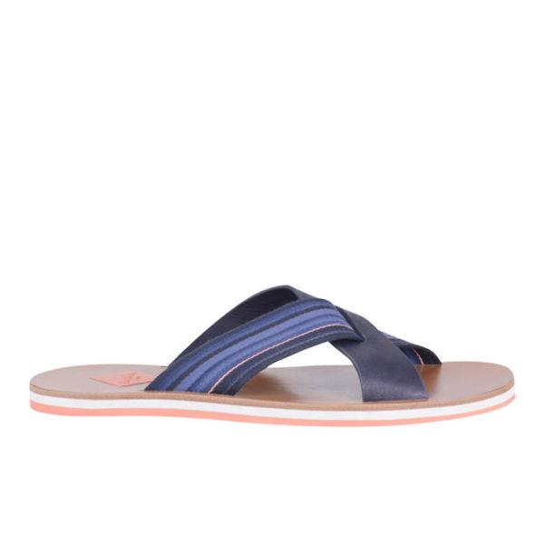 Paul Smith Mens Kohoutek Leather Sandals in Blue for Men - Lyst be128bdfeb32