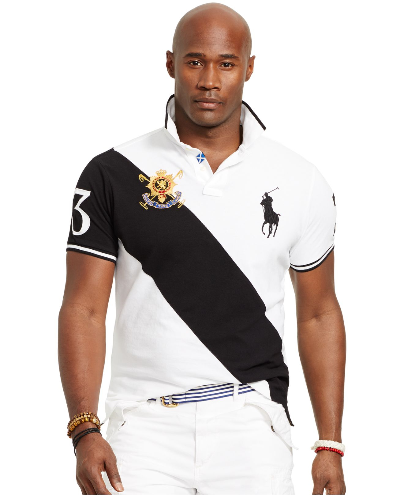Lyst polo ralph lauren big and tall black watch classic for Big and tall custom polo shirts