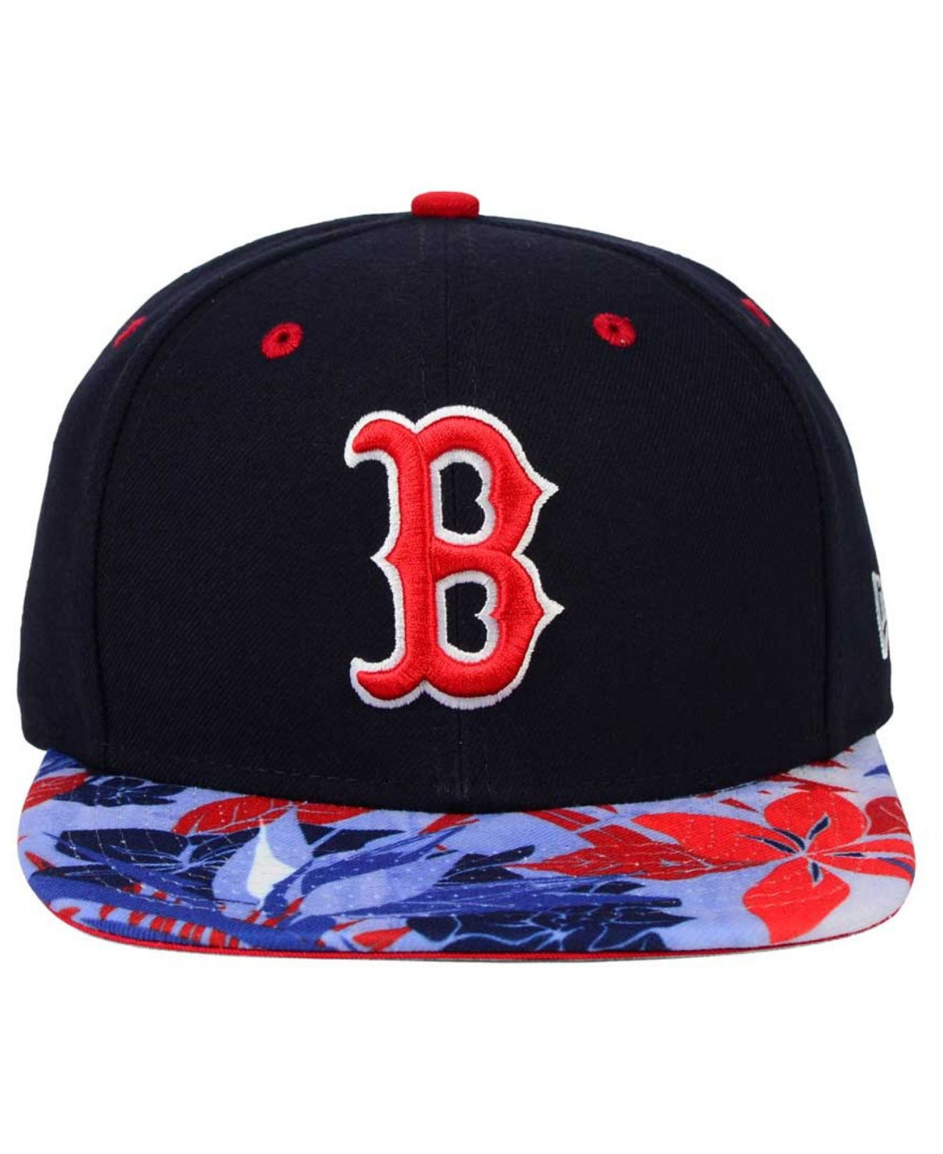 huge selection of 0aa53 97e45 88346 dc4c3  get lyst ktz boston red sox floral viz 9fifty snapback cap in  blue for men d662c