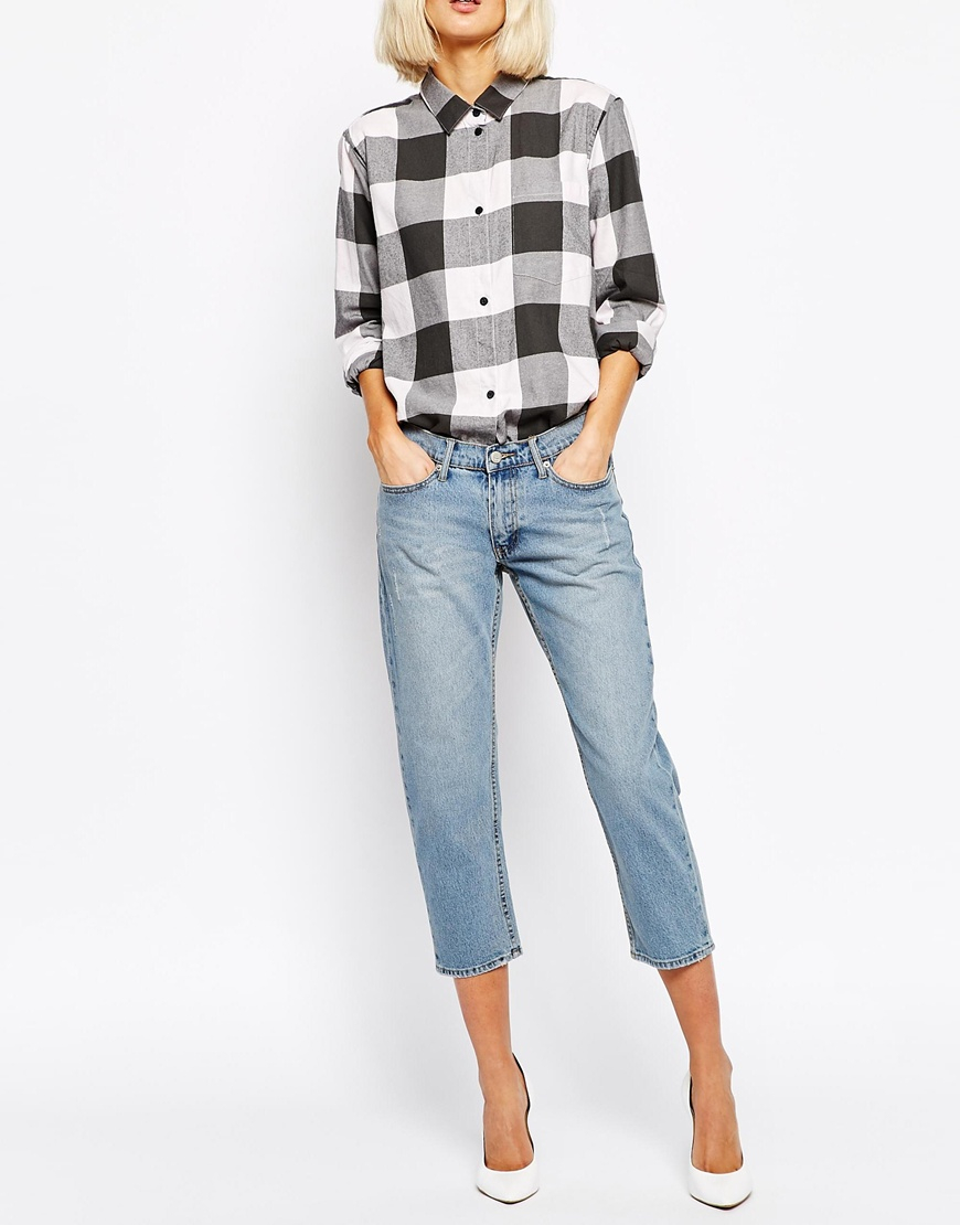 Cheap monday Tide Straight Cropped Jeans in Blue  Lyst