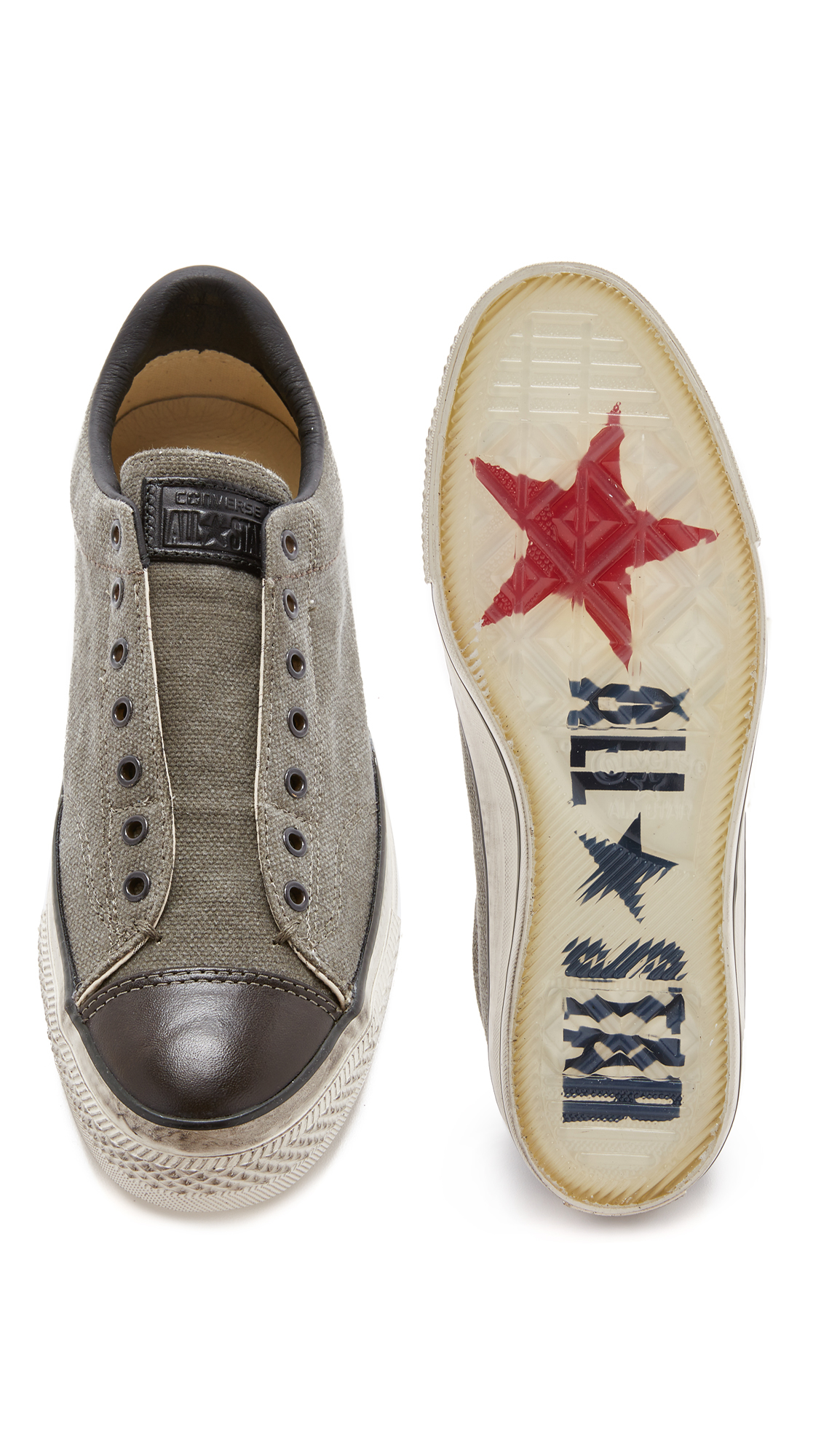 Converse Chuck Taylor All Star Vintage Slip On Sneakers In