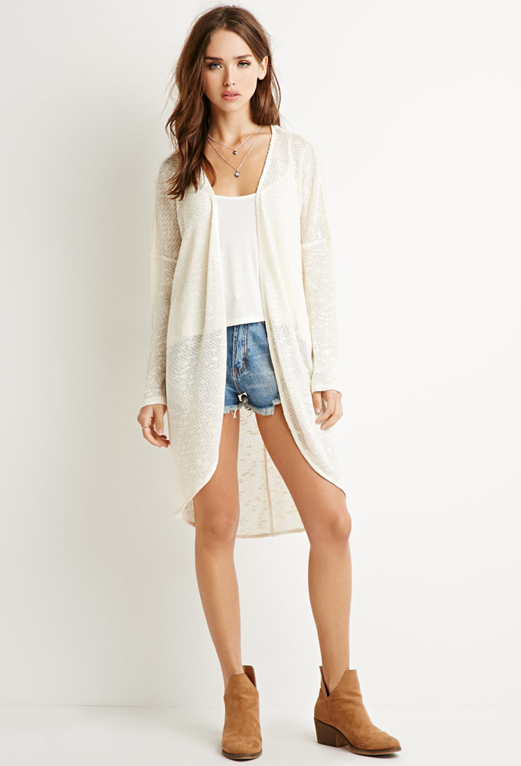 Forever 21 Textured Longline Cardigan You've Been Added To The ...
